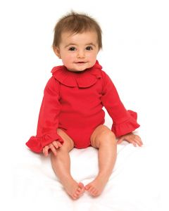 Interlock Long Sleeve Ruffle BodySuit