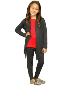 Youth Cardigan and Legging-Heather Green-Youth S