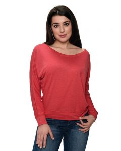 Fine Jersey Long Sleeve Vintage Off-Shoulder Tee