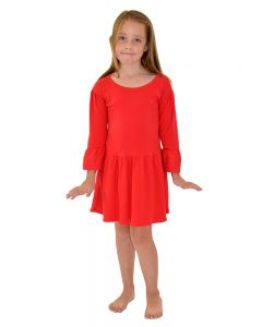Toddler Girls Red Dress,Toddler dresses for embroidery,Toddler Bell Sleeve Dress,Toddler Girls Red Dress,