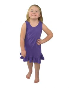 Interlock Ruffle Tank Dress-Purple-2