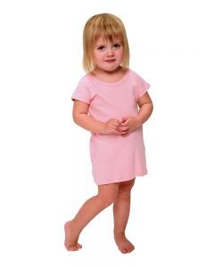 Toddler Short Sleeve Dress with Pockets-White-4y