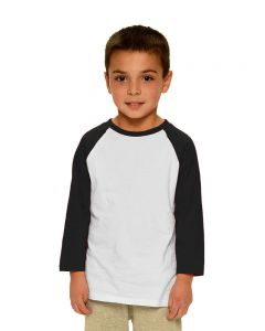 Toddler Fine Jersey Raglan Tee-White/Black-2