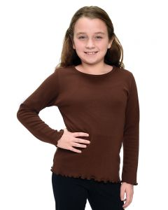 Interlock Long Sleeve Lettuce Girls Tee