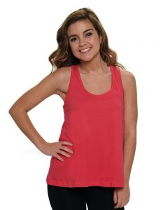 Fine Jersey Flow Tank Top-Navy-Youth M