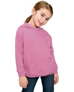 Youth Fleece Hooded Pullover-Pink-Youth S