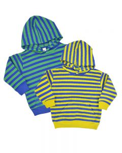 Toddler Fleece Striped Hoodie