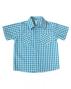 Short Sleeve Toddler Plaid Shirt,