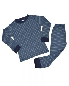 Navy and Blue Striped Shirt and Pants Set