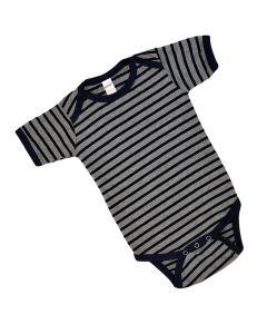 Striped Baby Bodysuit Short Sleeve
