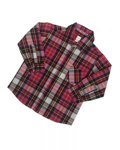 Plaid for Girls, Pink Long Sleeve Plaid,