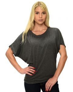 Ladies Short Sleeve Dolman Tee,,
