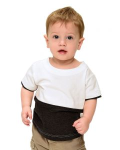 Infant Vintage 2 Color Tee-White/Heather Red-6-12m