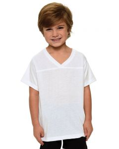 Youth Polyester Short Sleeve Sports Jersey-White-YM