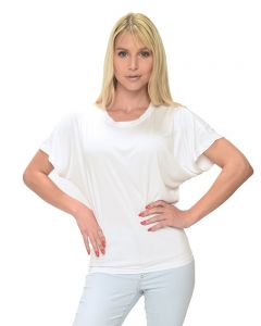 MicroPoly Short Sleeve Dolman Tee-White-S