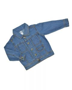 Stylish Infant Denim Jacket- 1 pocket, Medium Wash-18-24m