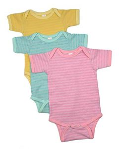 Striped Baby Bodysuit Short Sleeves