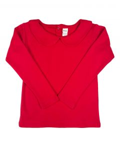 Long Sleeve Peter Pan Collar T-shirt,