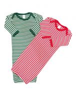 Christmas Baby Gowns Stripped baby Gown, Red Striped Baby Gown Newborn Christmas Gift set,,